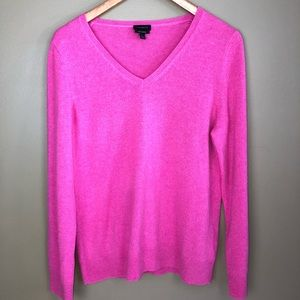 Talbots pink cashmere sweater size L